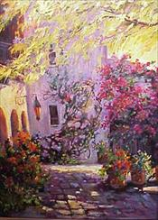 """Mornings Courtyard""  SOLD"